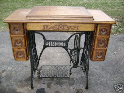 free sewing p vintage table ideas reuse create and desk to recycle with machine small tables machines old