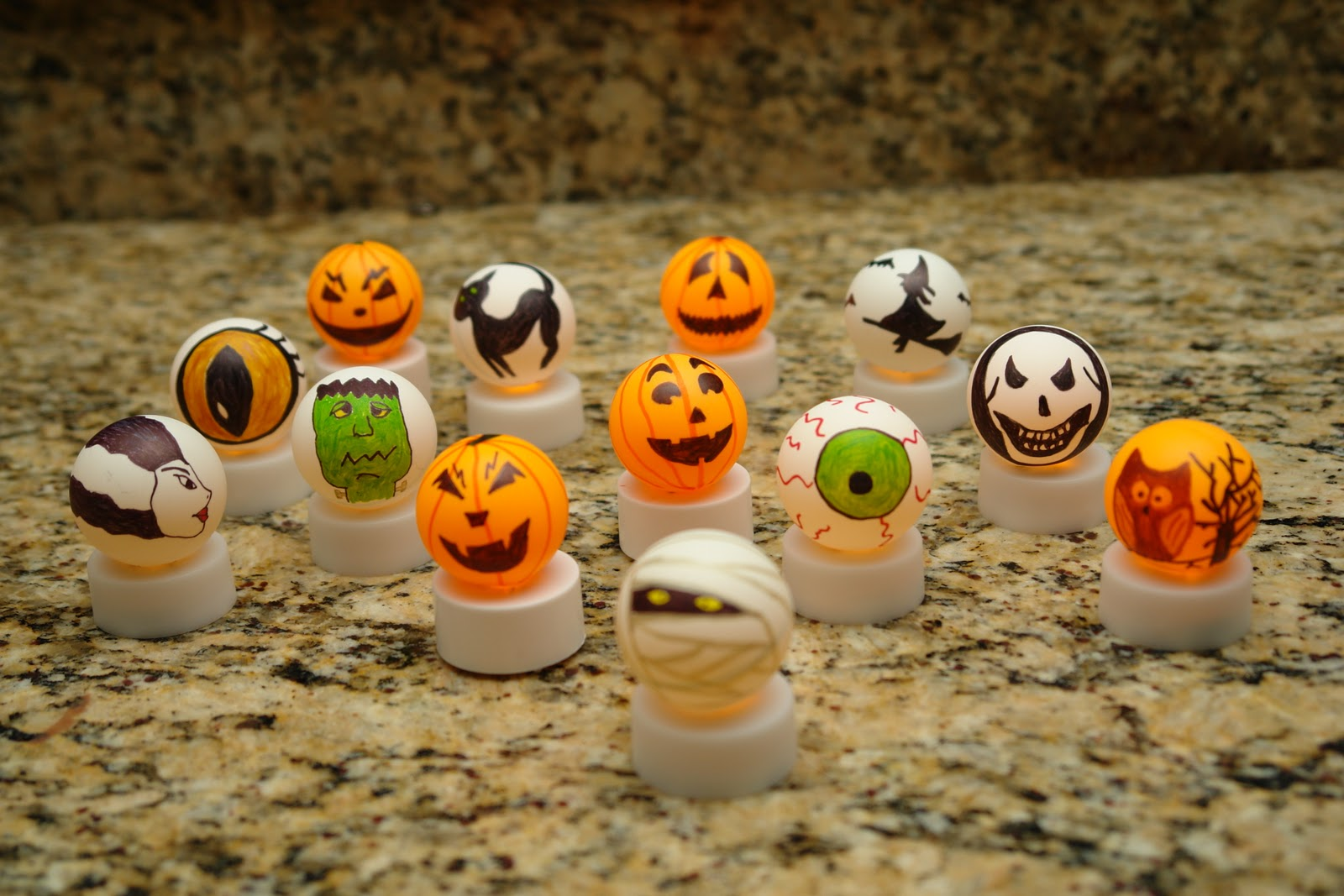lights on - Halloween Ping Pong Balls