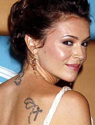 Photo Of Alyssa Milano Tattoo S Pictures, Images & Photos