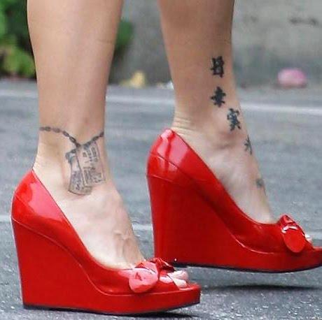 Celebrity pink tattoo designs