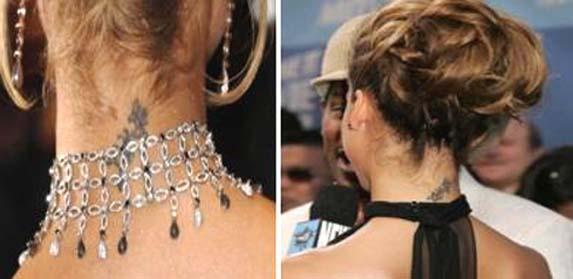jessica alba tattoo on neck. wallpaper Jessica Alba Tattoo