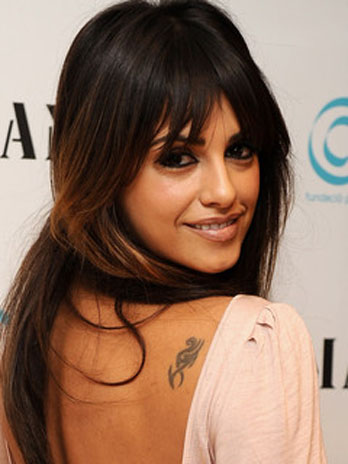 Celebrity monica cruz number tattoo design