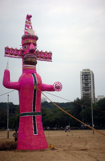 Ravan, Girgaum Chowpatty. Dussehra afternoon.