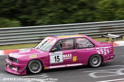 BMW E30 CARS: Pink BMW E30 M3