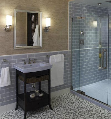 If you have the budget  go for a full tiled shower  and have the shower  floor be a mosaic version of the same tile as the rest of the bathroom  floor. Jennifer Adams Design Tips and Trends  Design Tips  Thinking Big