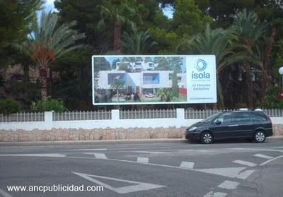 Valla publicitaria en Tarragona