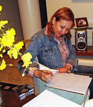 Arlete quando chega de Uberaba, transcrevendo a MSG recebida por Celso de Almeida.