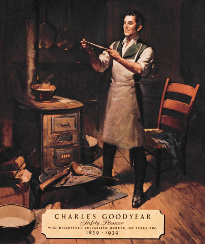 a biography of charles goodyear a man who discovered rubber and the process of vulcanization Miraculously the industry was saved by inventor charles goodyear – a man with no knowledge of chemistry who worked stubbornly and tenaciously to develop vulcanized rubber after incidentally.