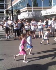 My little girls running.