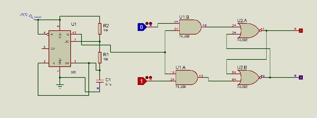 Circuito Nand : Simulaciones en proteus digitales i logica secuencial