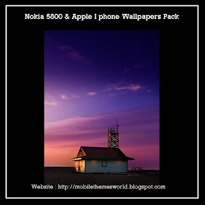 Nokia 5800 and apple iphone wallpaper pack