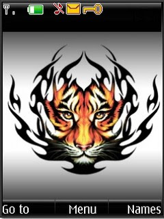 Tiger s40v3 theme for Nokia
