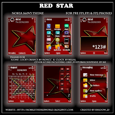 Red Star by shadow_20-S60v3 theme