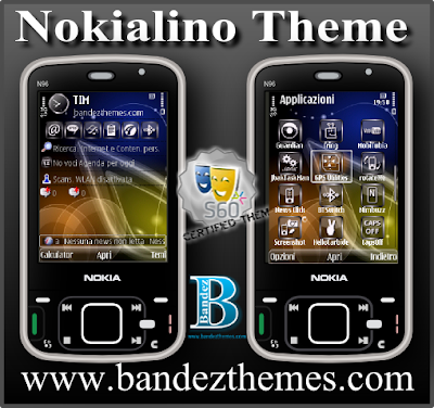 Nokialino Theme by Bandez, nokialino themes for nokia n86 mobile,s60v3 themes