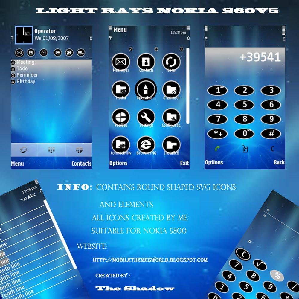 temas nokia light rays
