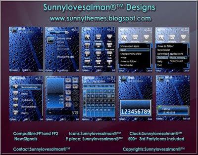 Droplets s60v3 theme