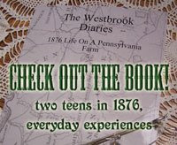 Check out the book!  Two teens in 1876, everyday experiences