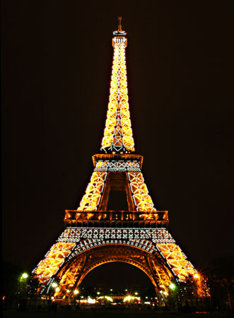 Eiffel Tower Picture Night on Eiffel Tower At Night Paris France Jpg