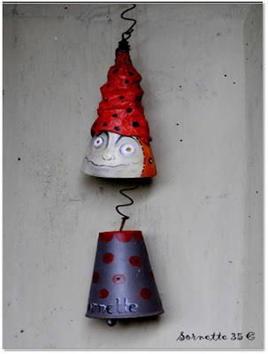 fleur de courge handmade bell art