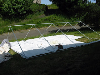 We opted for an internal frame because we will be living in it long-term. We purchased a welded angle kit with the tent and then purchased and cut down 1  ... & Off-Grid in Alaska: Getting Ready - The Wall Tent