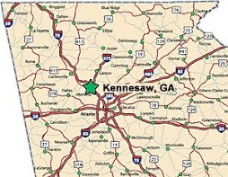 Kennesaw Georgia Location MAP
