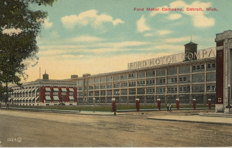 vintage ford facts highland park plant postcards