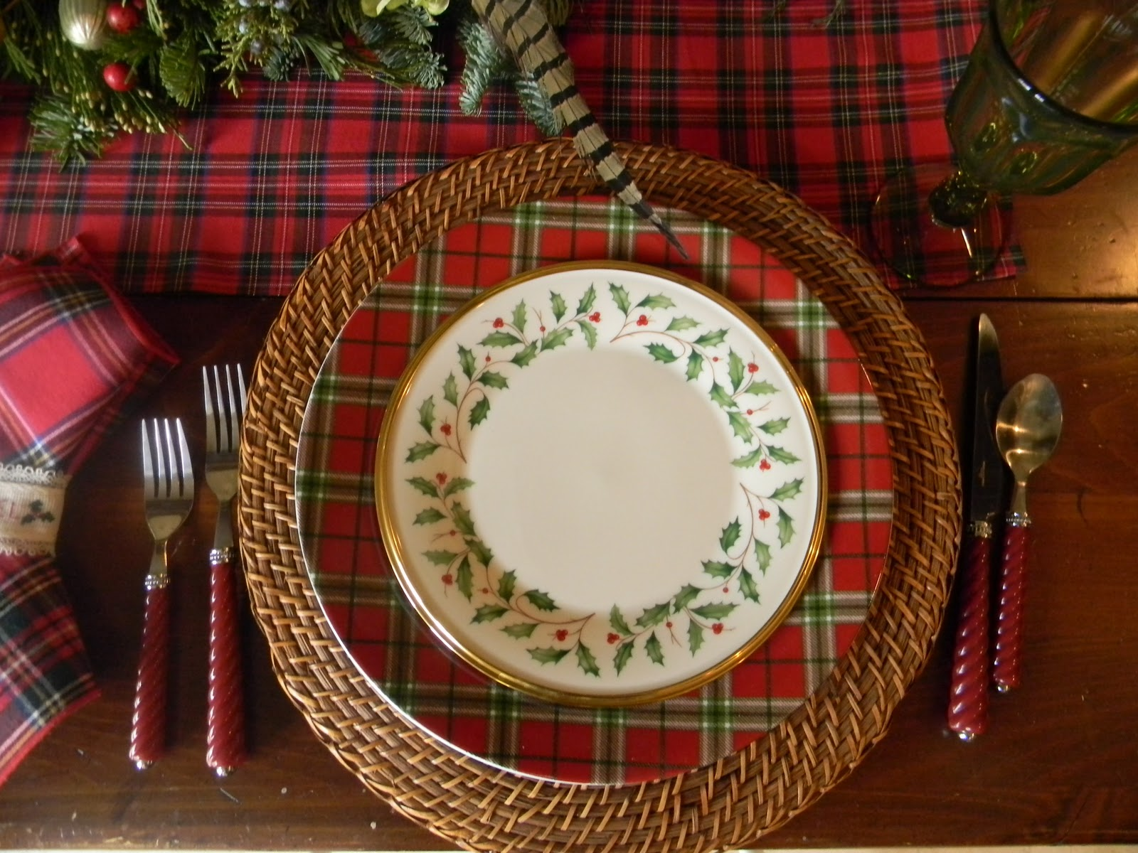 A Toile Tale Tartan Christmas Table