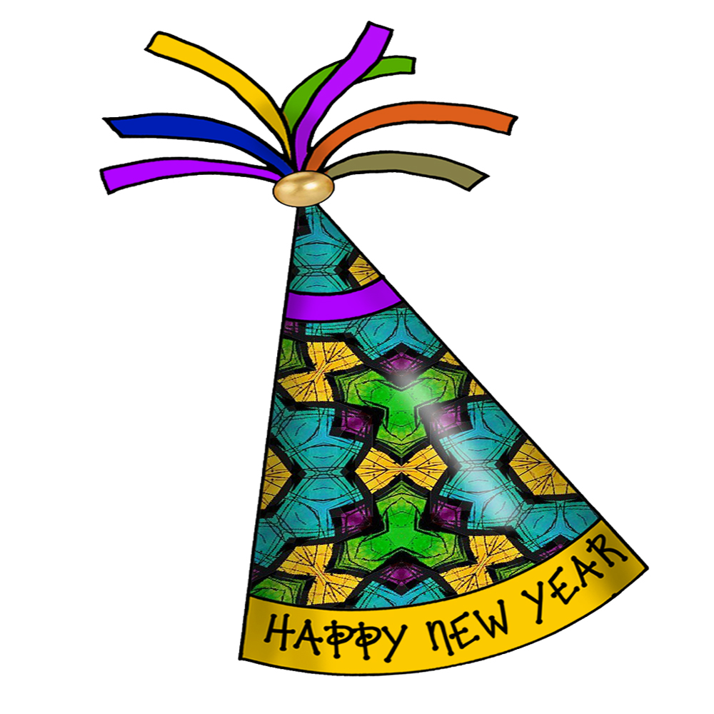 Artbyjean paper crafts happy new year party hats clipart prints happy new year party hats free crafty clipart prints for your decoupage scrapbooks greeting cards and other paper crafts voltagebd Gallery