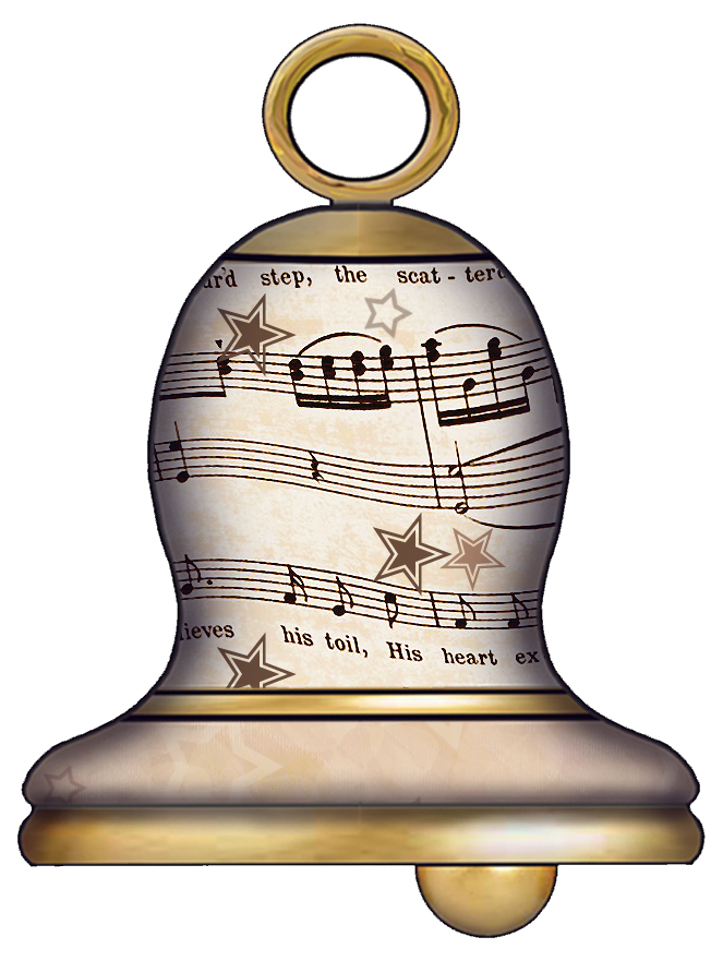 Set 003 Vintage Sheet Music Free Clipart Biege Tan Wedding Bells