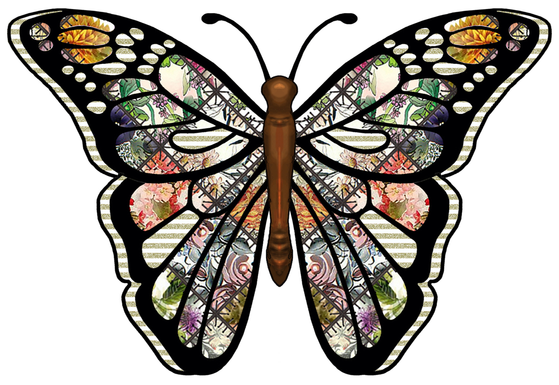 Crafty clipart prints for your decoupage scrapbooks greeting cards and