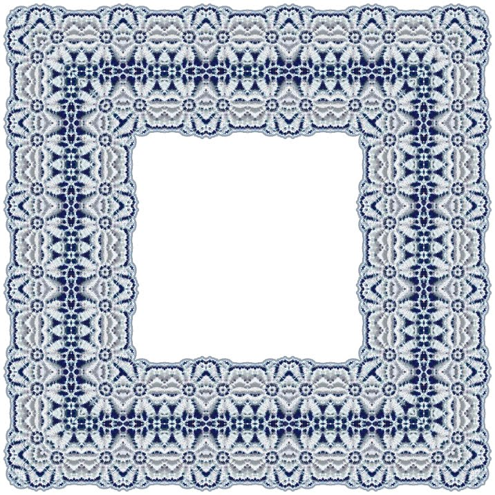 these frames are delicate and pretty they have a romantic look with wedding white lace over navy blue background these frames would look lovely in a