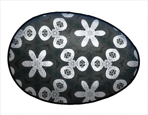 easter eggs clipart black and white. Easter Eggs with delicate lace