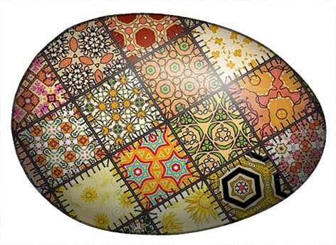 easter eggs clipart black and white. on Easter Egg clip art .