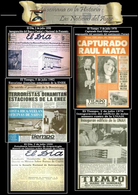 ESTA SEMANA EN LA HISTORIA: LAS NOTICIAS DEL AYER