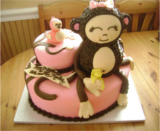 Happy birthday mudassir for Monkey birthday cake template