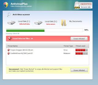 onlinewebscan.com AntivirusPlus Template 1