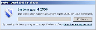 System Guard 2009 Spyware FakeAV Application