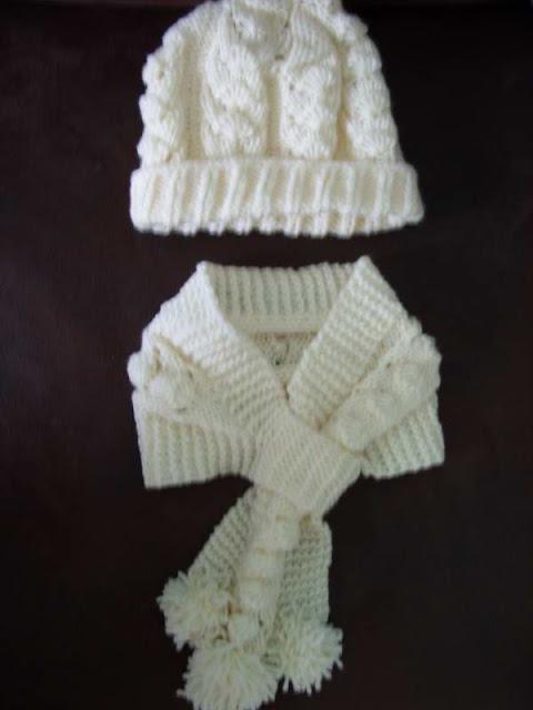 Beyaz Bebek Atk� ve �apkas�