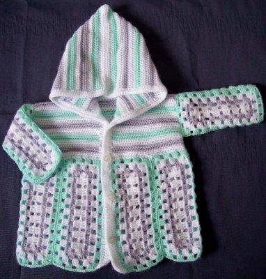 beyaz+kapsonlu Bebek Kapşonlu Hırka Modelleri