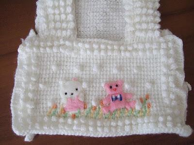 Beyaz k�z bebek yele�i modeli