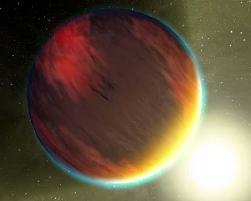 planeta HD189733b, reconstrução da NASA
