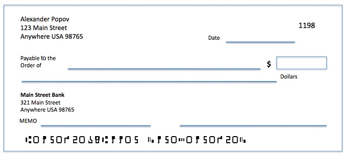 Bank Cheque Template Word Autos Post