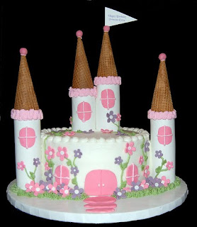 Cheap Princess Castle Birthday Cakes Decorations