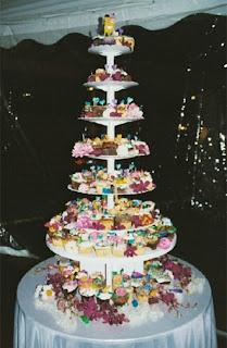 Creative Cupcake Wedding Cake