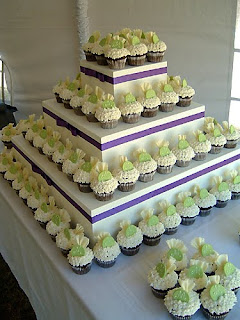 Beautiful Cupcake Wedding Cake