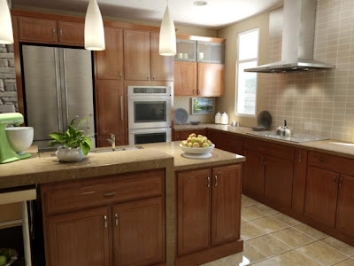 Builders Homesite, Inc. American Kitchen with Island