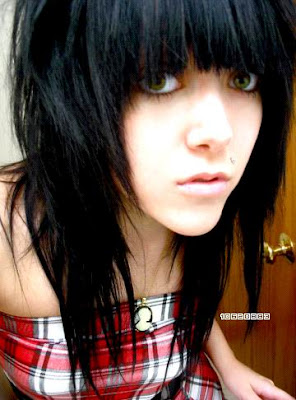 Black Emo Hairstyle