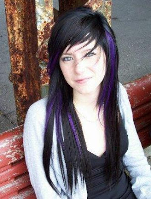 Emo hairstyles for girls with highlights