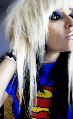 black white long emo haircuts for girls
