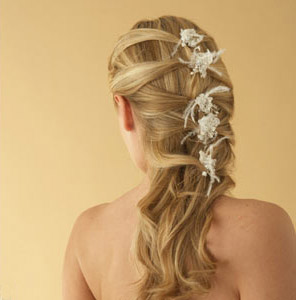 Braid romantic Wedding  hairstyle